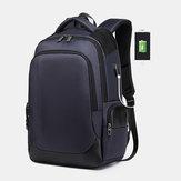 HomensgrandecapacidadeNylonmodaimpermeável mochila USB
