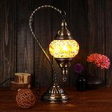 اليدوية Swan مصباح خمر زجاج الطراز التركي السرير المنزل الجدول ليلة ضوء