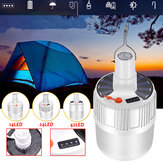 USB oplaadbare LED-lamp Waterdicht 5 modi Zonne-licht Outdoor Camping Noodverlichting