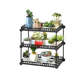 3-6 Layer Flower Pot Plants Stand Display Shelf Organization Home Garden Planter Holder Rack