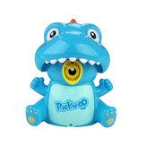 Pickwoo Dinozor Otomatik Kabarcık Makinesi Makinesi ile Çift Mod ile LED Lamba ve Müzik Yenilikleri Oyuncaklar Çocuklar için Hediye