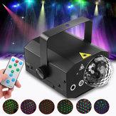 10W 16 em 1 Som Active Iluminação de palco LED Crystal Ball Light Laser Feixe RGB Projetor DJ Party KTV