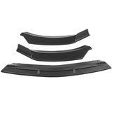 3Pcs Car Matte Black Front Bumper Lip Spoiler Protector Cover Trim For Mercedes CLA-Class W117 2016-2020
