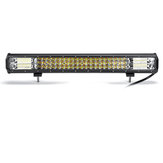 22 Inch 324W 108 LED Work Light Bars Strobe Flashing Lamp White+Amber For Off Road Car Truck 4WD Trailer
