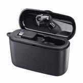 M8 Mini Fone de ouvido intra-auricular único bluetooth Fone de ouvido sem fio com carregamento Caso Versão com botão galvanizado