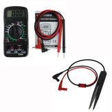 ANENG XL830L Digital LCD Multi Meters Volt Meterr Ammeter AC/DC/OHM Volt Current Tester+ANENG SMD Chip Component LCR Testing Tool Multimeter Pen Tweezer Red