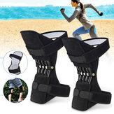 1ペア膝サポートパワーリフトスプリングジョイントブレースパッド通気性膝パッドフィットネススポーツプロテクター