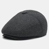 Erkek yünlü kap Şapka yastıklı sıcak bere rahat Outdoor vizör ileri Şapka kapaklar