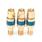 3Pcs 2W 0-6GHz Golden Attenuator SMA-JK Male to Female RF Coaxial Attenuator 10DB + 20DB + 30DB