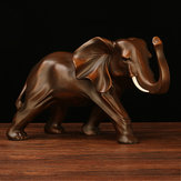 Resin Elephant Statue Fortune Mascot Living Room Cabinet TV Office Home Decorations