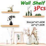 3 PCS Półka ścienna Drewniany stojak na rośliny Pokaż platformę do salonu