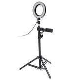 Dimmable LED Studio Camera Ring Light Makeup Photo Lamp Selfie Stand USB Plug Trépied avec support de téléphone pour Youtube Video