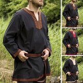 Mens Medieval Knight Fancy Tunic Tops Halloween Cosplay Costume T shirt Tops US