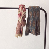 Vintage Style Woolen Scarf Warm Knitted Scarf