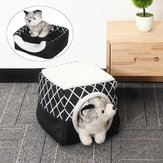 Folding Fleece Warm Puppy House Dog Cat Pet Bed Cave Sleeping Mat Pad Soft Cushion