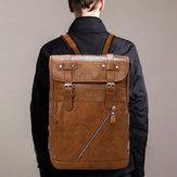 Men Large Capacitry Multifunction Laptop Flap Backpack