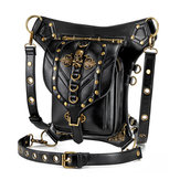 Motorcycle Steampunk Bag PU Leather Waist Backpack Shoulder Gothic Retro Victorian Style