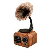 FT-BT05 Мини Портативный Ретро Bluetooth Деревянный Динамик Беспроводной Граммофон Динамик Громкой Связи С TF Слотом FM Радио