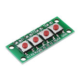 1x4 4 Keys Button 5 Pin Keypad Keyboard Module Mcu Board Geekcreit for Arduino - products that work with official Arduino boards