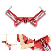 4pcs 90 graus ângulo direito moldura do quadro canto braçadeira titular madeira mão kit vermelho