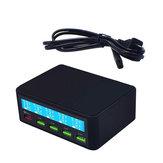 5V / 10A LCD Affichage Adaptateur Chargeur USB Charge Rapide 3.0 Multi Port Téléphone Mobile Chargeur Rapide Prise USB