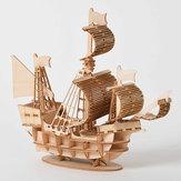 DIY 3D木製手作り組み立て三次元海洋帆船モデル建物のおもちゃ