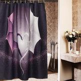 Nuova stampa popolare su ordinazione Drago mantovana impermeabile della tenda della doccia del bagno con 12 ganci