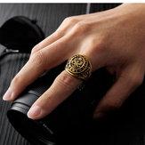 Persoonlijkheid Retro plaat Eagle Titanium stalen ring