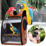 Pet Parrot Bird Carrier Mochila de viaje Space Capsule Bolso transparente Bolsa