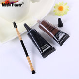 Música Flor 2 Cores Sobrancelha Gel Eye Brow Enhancers Waterproof Maquiagem Escova Set