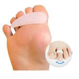 1 par Soft Gel Separador de corrección del dedo del pie Punta en forma de garra Mallet Toes Enderezadora Ayuda para el corrector del alivio de la garra