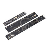 9pcs 15cm 20cm 25cm Multifunctional PCB Ruler Measuring Tool Resistor Capacitor Chip IC SMD Diode Transistor Package 180 Degrees