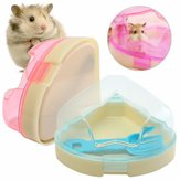 Hamsters Pet Mice Gerbils  Cage Corner Toilet Potty Box With Star Roof &