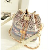 Women Stylish Canvas Bucket Bag Shoulder Bag Crossbody Bag