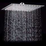 8 Inch Square Ultra Thin Stainless Steel Bathroom Rainfall Shower Head Top Sprayer