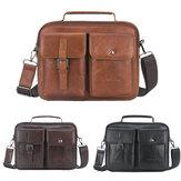 Mens Business Satchel Tote Handbag Leather Laptop Bag Travel Shoulder Bag