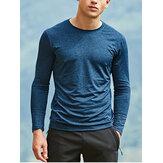 T-shirt aderente da uomo ad asciugatura rapida per esterni Sottile