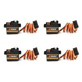 4PCS Emax ES08A II Mini Plastic Gear Analog Servo 8.5g 1.8kg/sec for RC Models Airplane