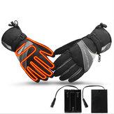電気加熱された冬の暖かい手袋オートバイバイク防風防水スキー