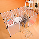 DIY Grote Cat Villa Home Pet Bed Pet Cage Anti-skip Cat Fence Plastic Home Cage