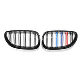 Car Gloss Black M-Color Front Kidney Grill Grille For BMW E60 E61 03-10
