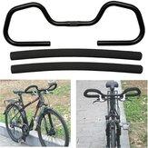 1Pcs 25.4mm Manubrio bici da trekking farfalla in alluminio + copertura in spugna per mountain bike MTB Rode