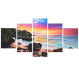 5 Unids Dusk Modern Canvas Print Paintings Wall Art Picture Playa Murales de Pintura Decorativa Decoración del Hogar Sin Marco