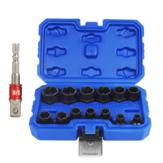 Drillpro 14 szt. Zestaw narzędzi do demontażu wkrętaków do usuwania nakrętek i nakrętek nasadowych z adapterem do nakrętki nasadowej
