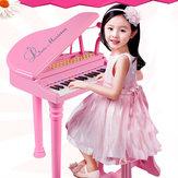 31 Teclas Crianças Crianças Teclado Eletrônico Piano Eletrônico Microfone Tamborete Presentes Musicais