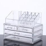 كبير سعة شفافة الاكريليك سطح المكتب ماكياج مستحضرات التجميل تخزين مربع منظم المجوهرات عرض صندوق تخزين مع أدراج