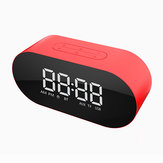 Bakeey P1 Portable Wireless bluetooth Speaker LED Display Mirror Alarm Clock Subwoofer with Mic