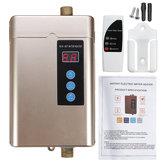 4000W Мини Электрическая вода Нагреватель LCD Дисплей Водонепроницаемы Горячая вода без бака Нагреватель 3S Быстрый нагрев с Дистанционное Уп