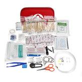 430PCS al aire libre Kit de supervivencia de emergencia Equipo de primeros auxilios portátil multifuncional Bolsa herramientas Kit para oficina en el hogar Coche cámping Senderismo