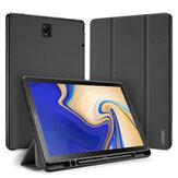 Caneta dobrável em três partes com caneta Buraco Tablet Caso Capa para Samsung TAB S4 10,5